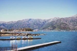 View of Kawaguchiko Lake with Signature Duck Pedal Boat