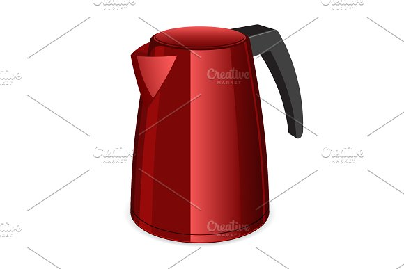 Red Electric Tea Kettler
