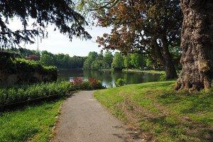 Muehlenteich pond in Luebeck