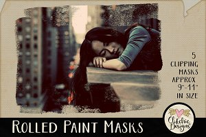 Rolled Paint Photo Clipping Masks