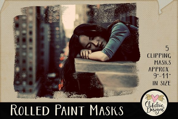 Rolled Paint Clipping Masks