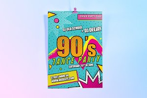 90's Theme - Dance Party Flyer