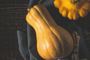 Pumpkin, patty pans and garlic