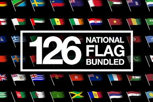 126 National Flags Bundled SAVE 60%