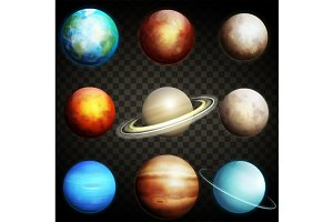 Planets of the solar system isolated