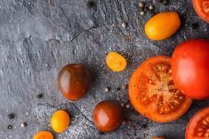 Tomatoes mix with seasoning