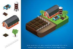 element for building isometric farm