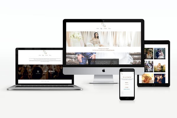 WordPress Wedding Themes: Progress Lab - White - Wedding photography WP Theme