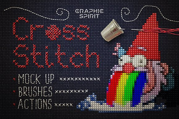 Cross Stitch Photoshop Acti-Graphicriver中文最全的素材分享平台