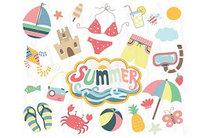 Happy Summer Elements