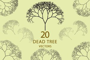 20 Dead Tree Silhouettes
