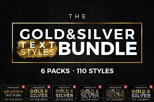BUNDLE: Gold & Silver Text Styles