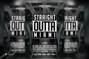 Straight Outta Party | 6in1 Flyer
