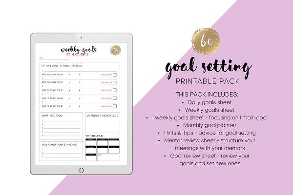 Goal Setting - Printable Planner