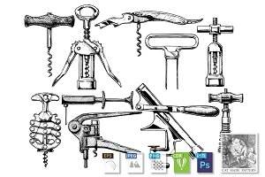 set of corkscrews