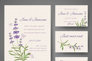 Templates with lavender bunches