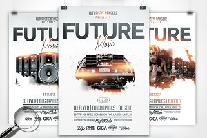 Future Music | 3in1 Flyer Template