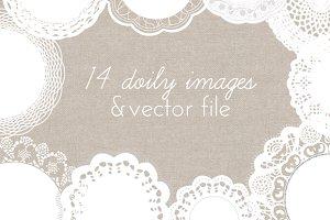 Doily Vector - Doily Clip Art