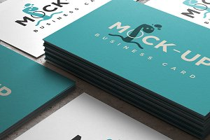 Business Card Mock-up 85 x 55