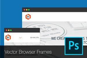 B81 Vector Browser Frames [PSD]