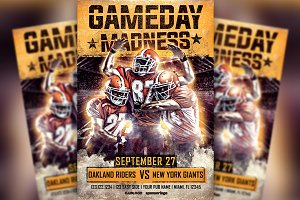 Gameday Madness Football Flyer