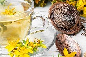 Herbal Hypericum tea.