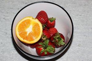 Yummy Strawberries with Orange