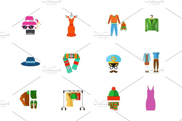 Fashion Store Icon Set