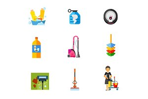 Housekeeping icon set