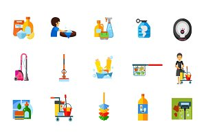 Housework icon set