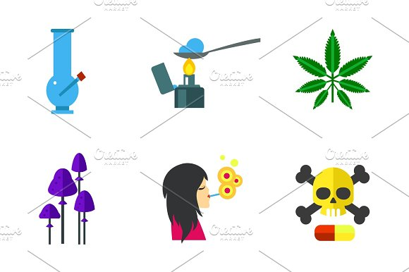 Narcotic Icon Set