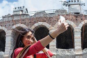 Selfie in Verona (Italy)