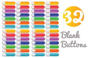 Vector blank web buttons