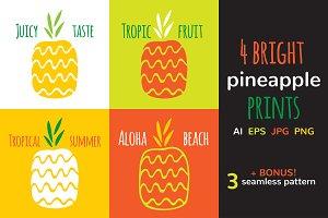 Pineapple seamless pattern - SALE!