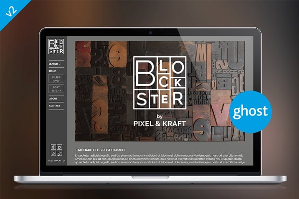 Ghost Themes: Pixel & Kraft - Blockster | Filter, Sort, & More