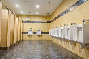 public men toilet room.