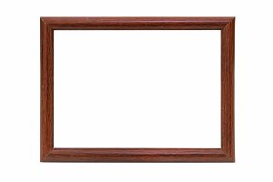 Wooden photo frame empty