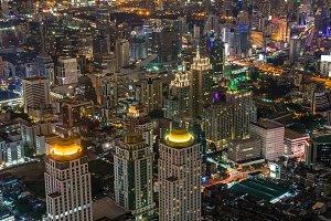 Night City LandScape of the Bangkok