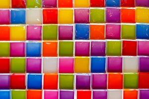 Mosaic tiles of Colorful