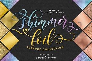 Shimmer Gold-Rose Gold Foil Textures