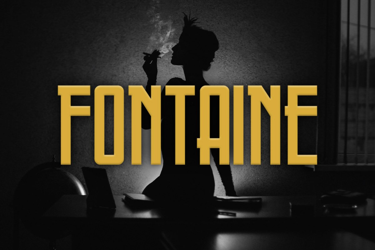Fontaine Typeface ~ Display Fonts ~ Creative Market