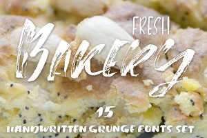 15 handwritten grunge fonts set