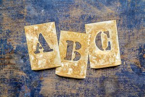 "Letters of the alphabet ""ABC"""