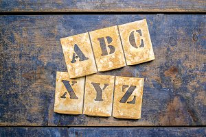 "Letters of the alphabet ""ABC""-""XYZ"""