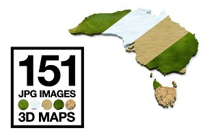 3D Maps Images Bundled