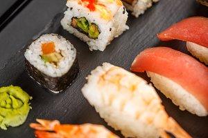 Sashimi sushi set