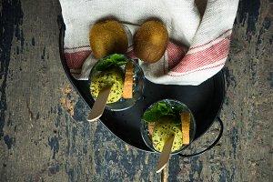 Organic summer fruits concept