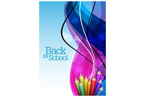 Back to SchoolAbstract Cover Design