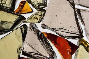 Beautiful abstract broken glass.