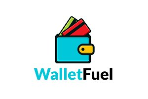 Wallet Fuel Concept Logo template